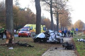 Man zwaargewond na botsing tegen boom in Elsendorp, slachtoffer met traumaheli naar ziekenhuis
